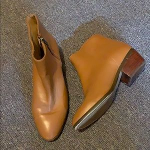 Jcrew Factory Leather Camel Ankle Bootie